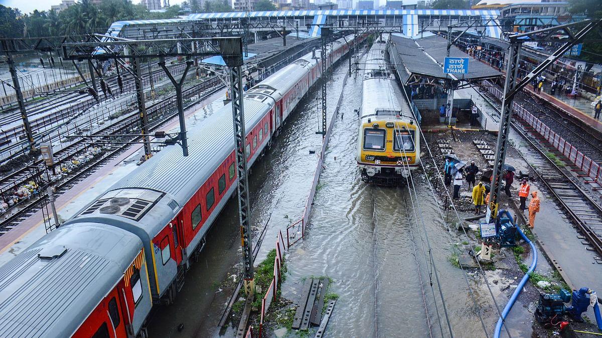 Mumbai: Despite heavy rains, local trains running on all corridors