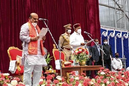 BSB takes oath as K'taka CM