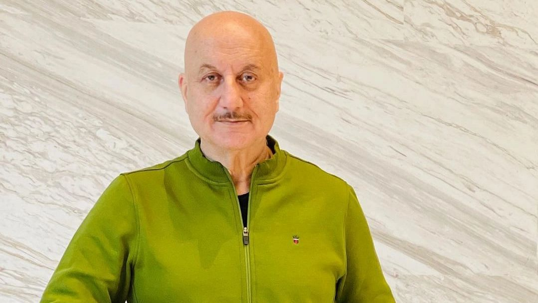 Watch: Anupam Kher announces his 519th film while flying over Atlantic Ocean