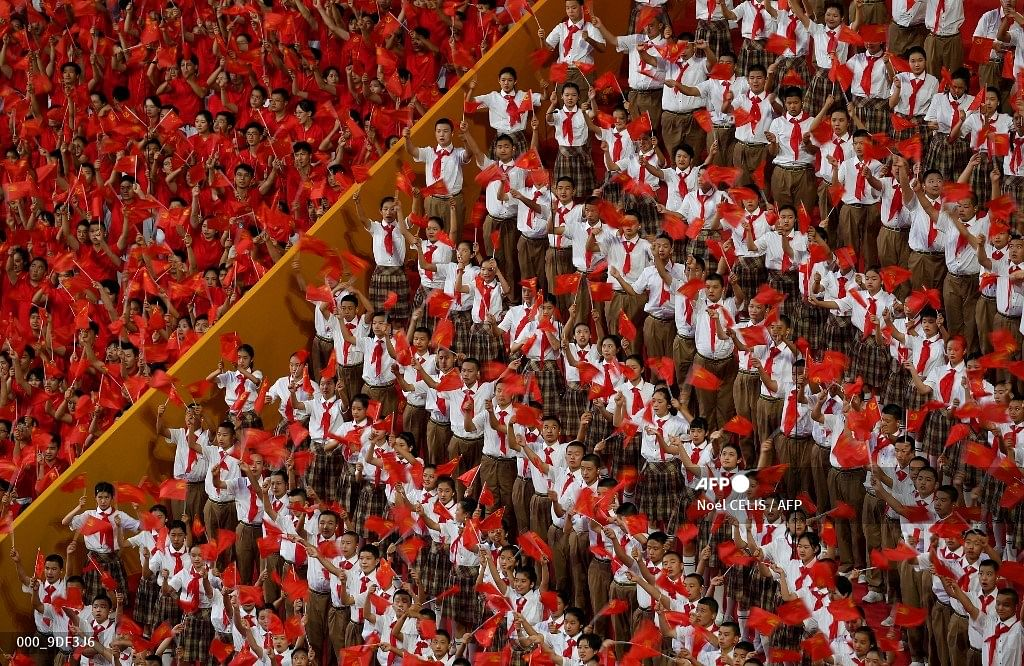Visuals from the celebration of the 100th anniversary of the founding of the Communist Party of China at Tiananmen Square in Beijing on July 1, 2021.