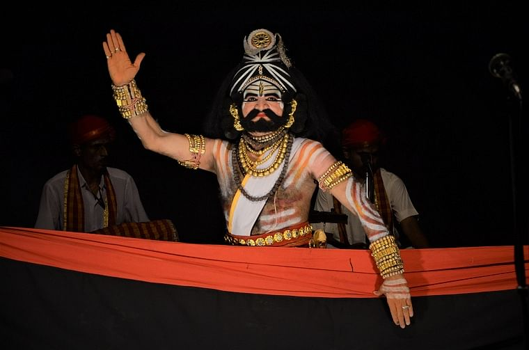 Keremane in Shiva avatar during a performance
