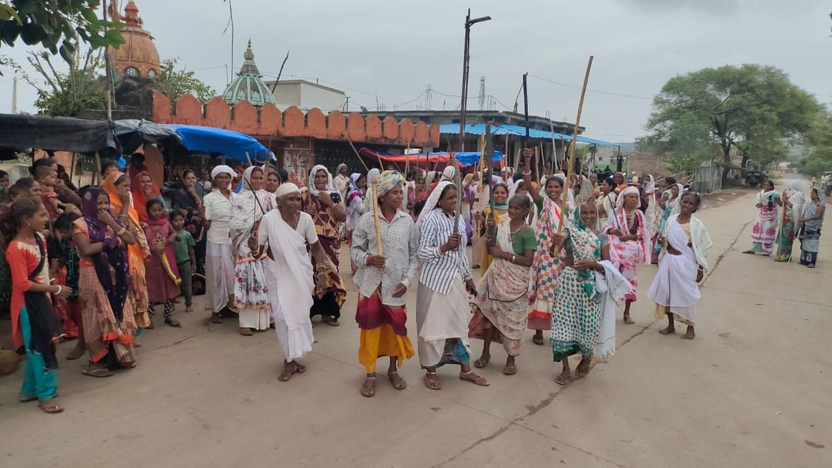 Swords in hand, tribal women pray for rain in Rajasthan