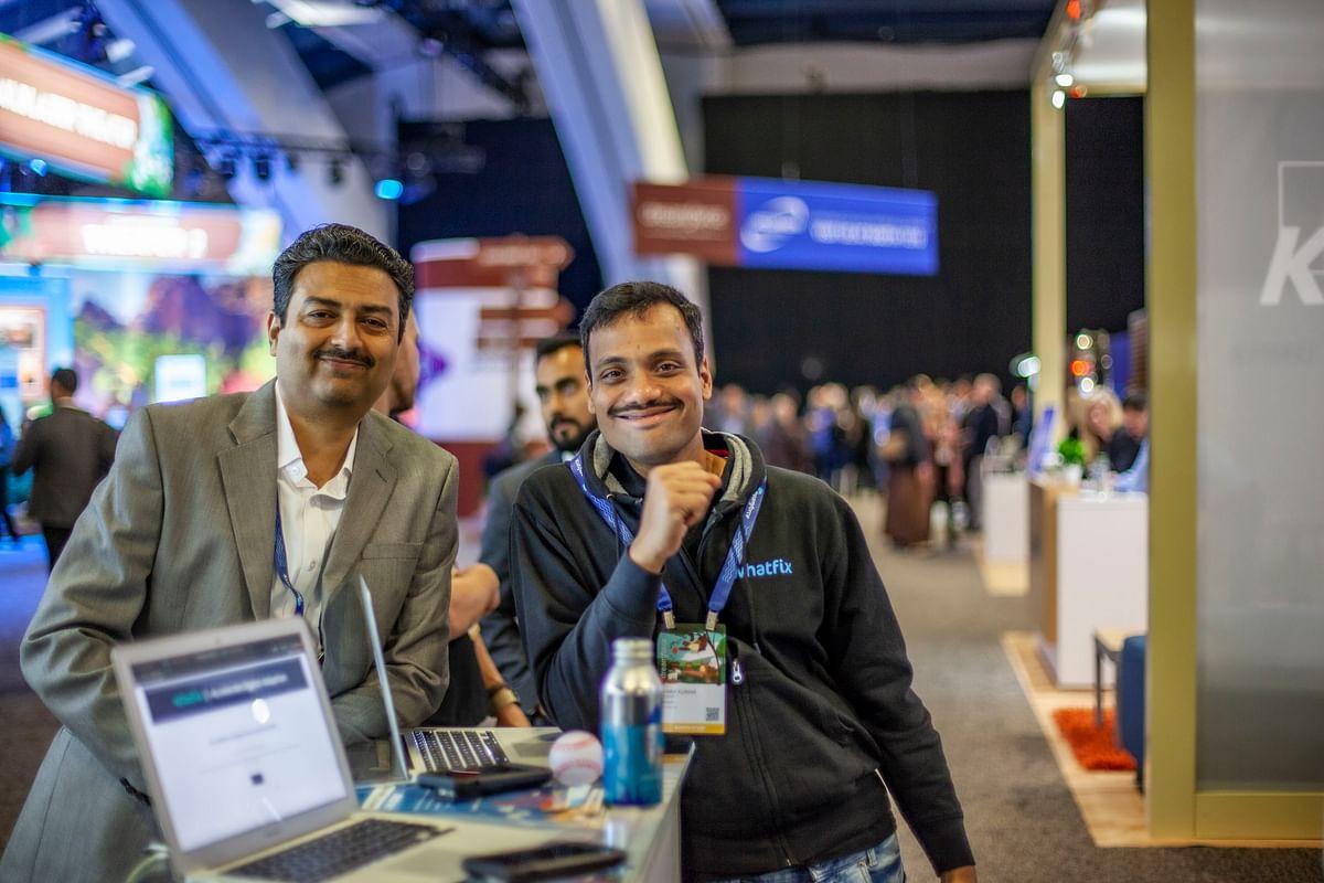 Khadim Batti (left) and Vara Kumar, Co Founders, WhatsFix