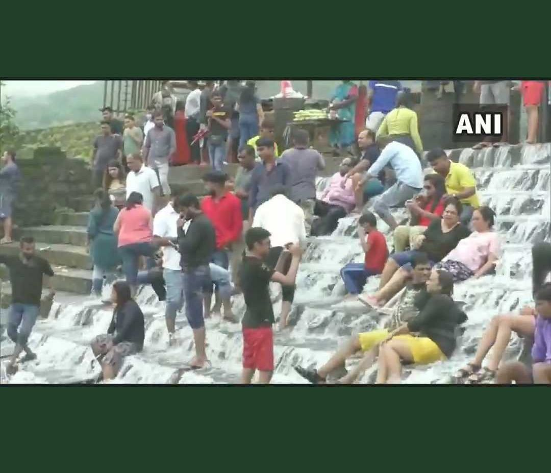 'Is COVID over?': Twitter reacts as tourists flock Lonavala's Bhushi dam amid relaxations in restrictions
