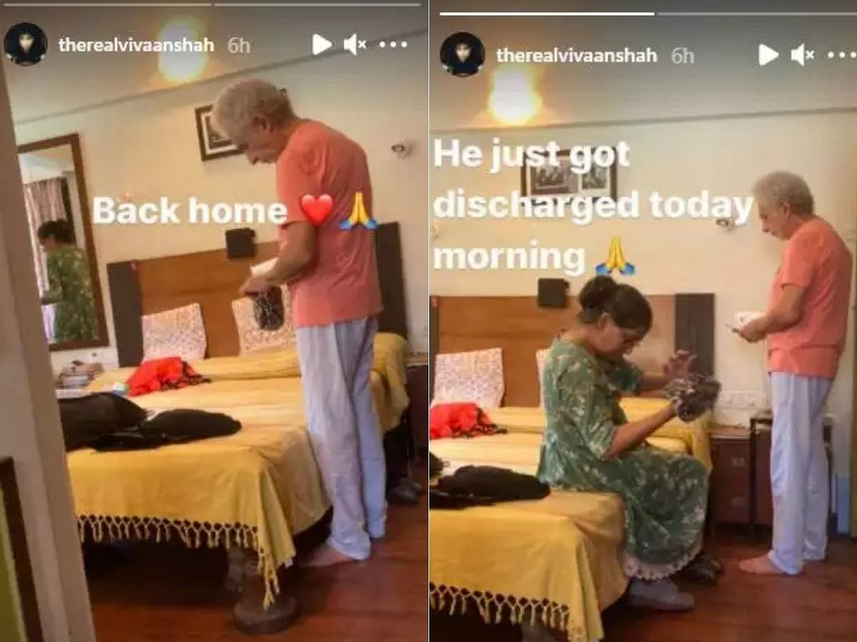 Naseeruddin Shah discharged from hospital; son Vivaan shares his pics with Ratna Pathak Shah