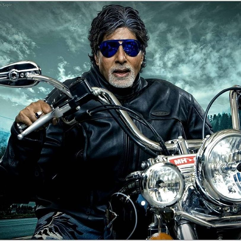 Amitabh Bachchan shares uber-cool pic of him riding a Harley, granddaughter Navya Naveli Nanda reacts