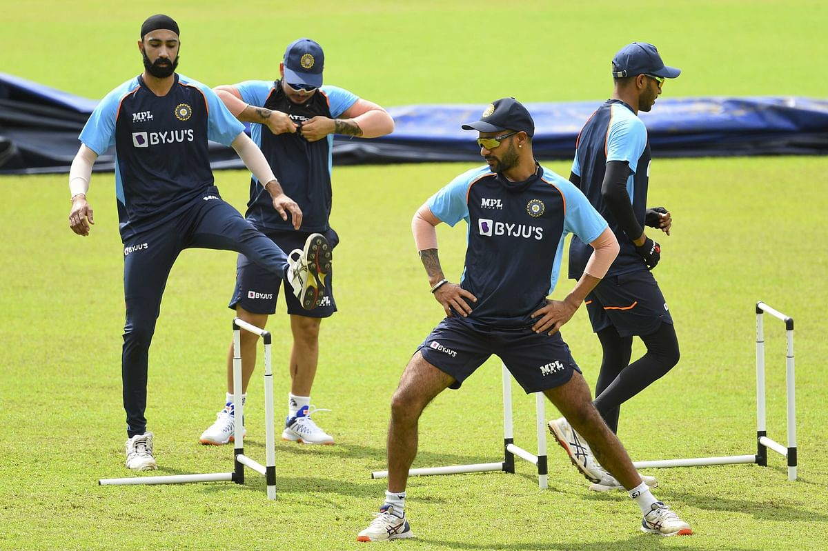 Indian players train in Colombo on July 2, 2021