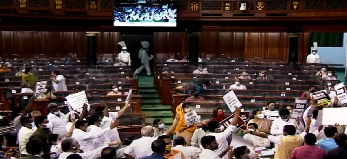Amid din over Pegasus row, farm laws, LS passes two Bills without debate