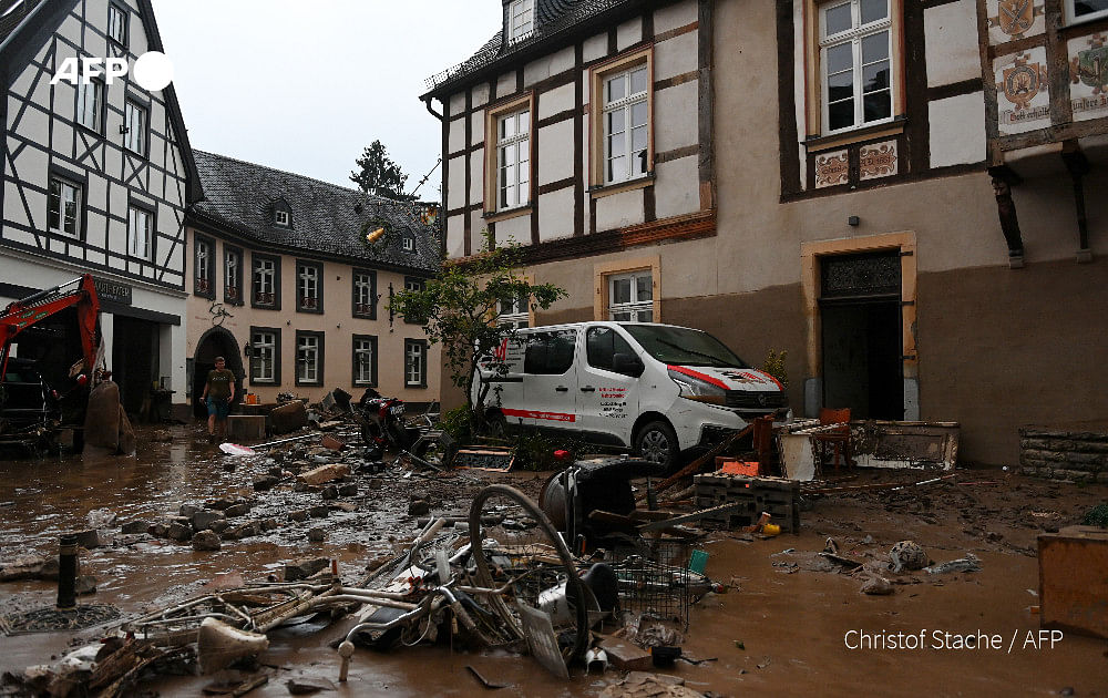 At least 80 dead and 1,300 unaccounted for due to flooding in Germany. Watch video