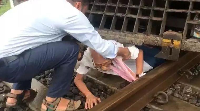 Mumbai: Senior citizen narrowly escapes death after alert loco pilot applies emergency brakes; watch video