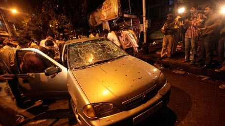 Police investigation of the blast