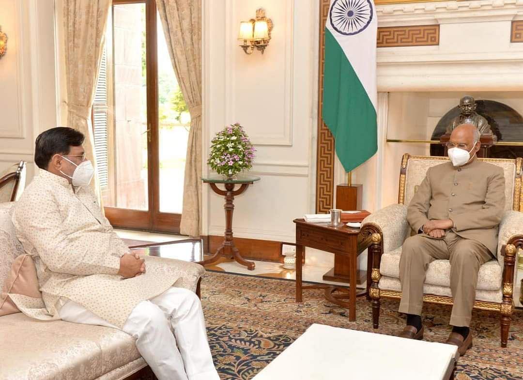 Administrator Praful Patel meets President Ramnath Kovind