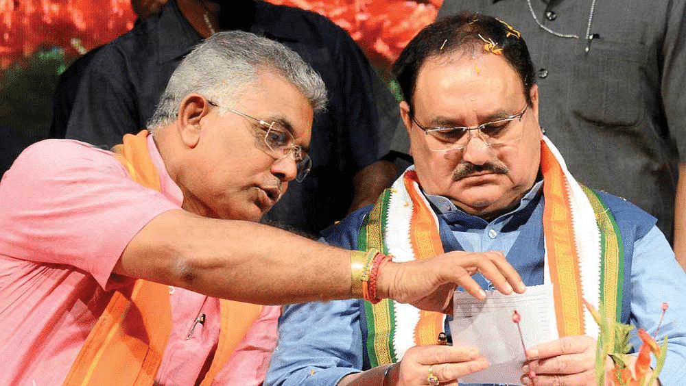 Dilip Ghosh meets Nadda, talks about dissent among leaders