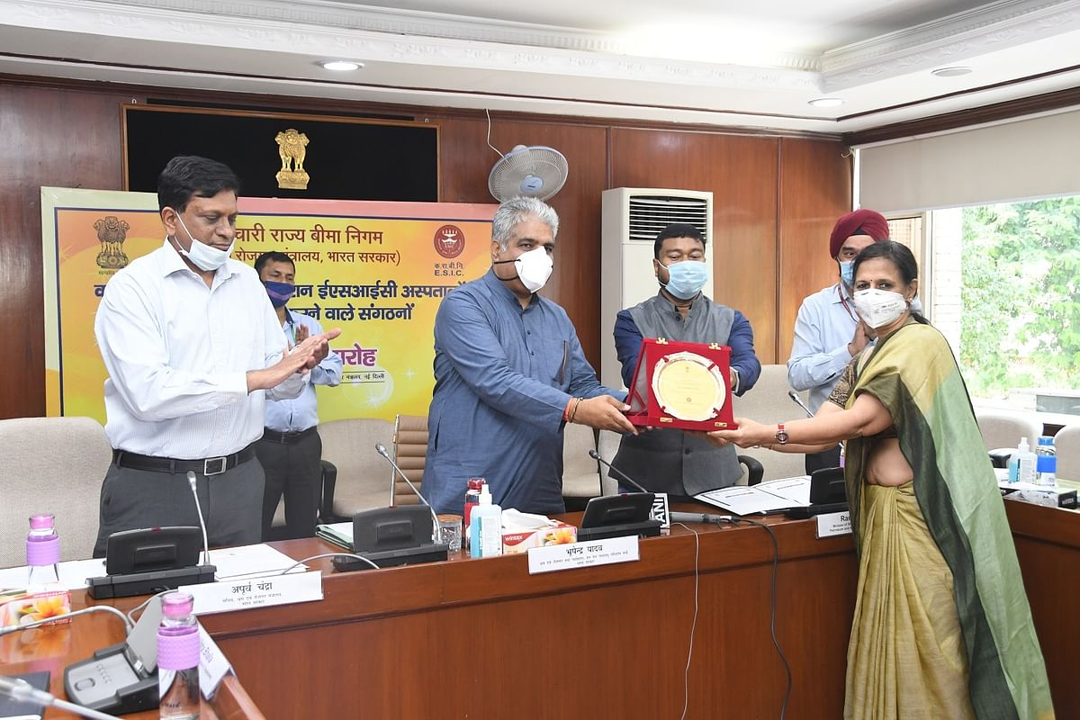 ESIC felicitates donors to ESIC Hospitals during COVID-19 Pandemic