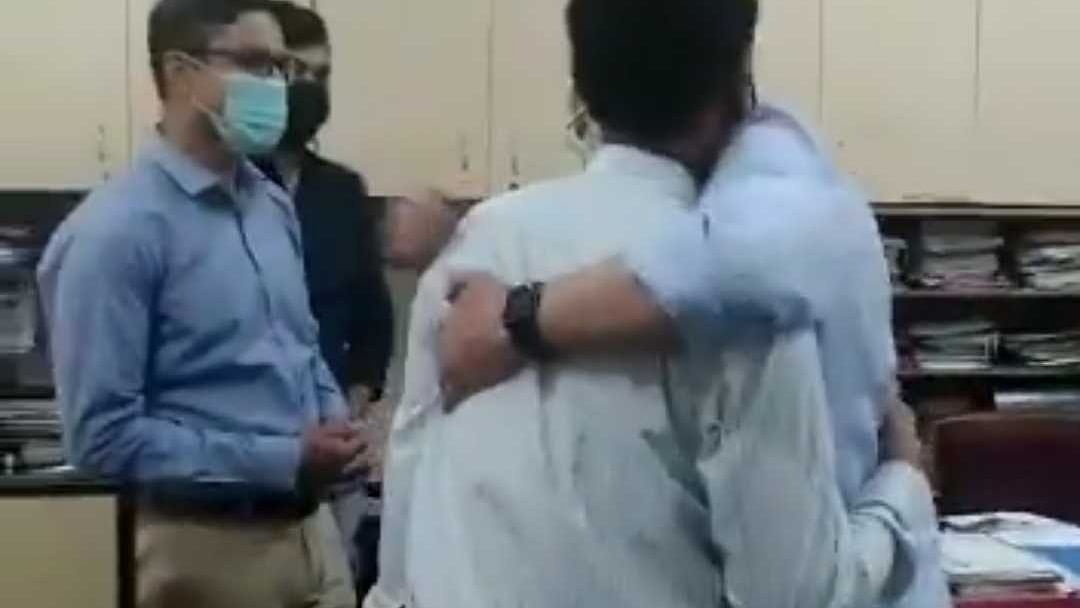 Watch Video: Newly-appointed minister Ashwini Vaishnaw hugs engineer from signal dept of Railways