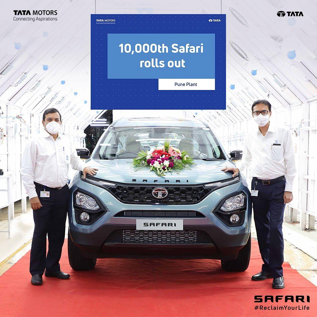 Tata Motors deploys 10,000th unit of new Safari from Pune plant