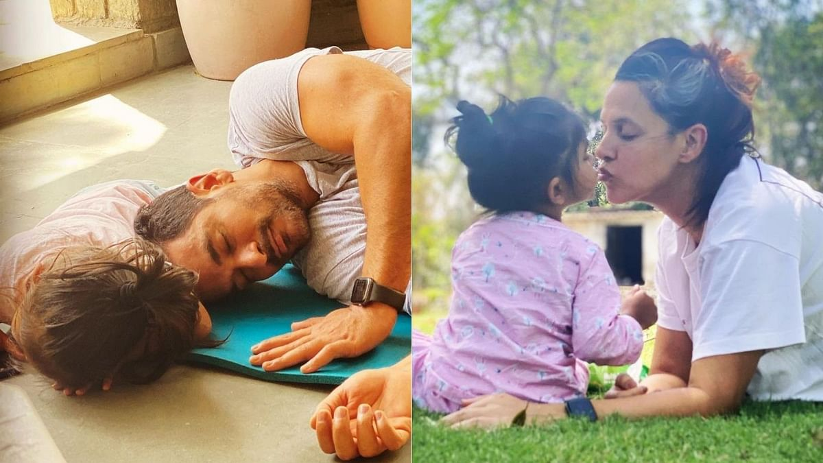 Watch: Neha Dhupia, Angad Bedi reveal why they don't show daughter Mehr's face in pictures