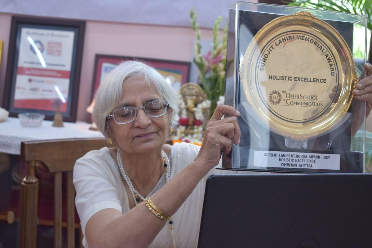 Dean Ma'am Prof. Ramola Kumar announcing Surojit Lahiri Memorial award