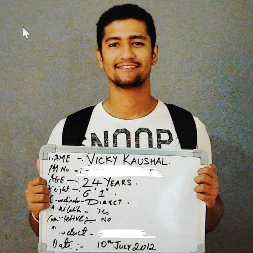 Vicky Kaushal recalls his early audition days with a throwback picture