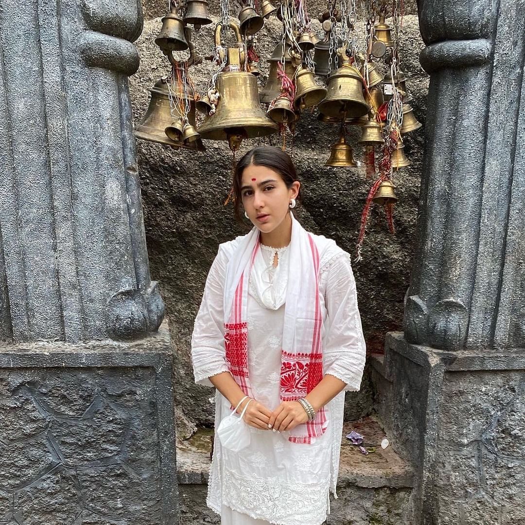 Sara Ali Khan shares pics from her visit to Assam's Kamakhya Temple