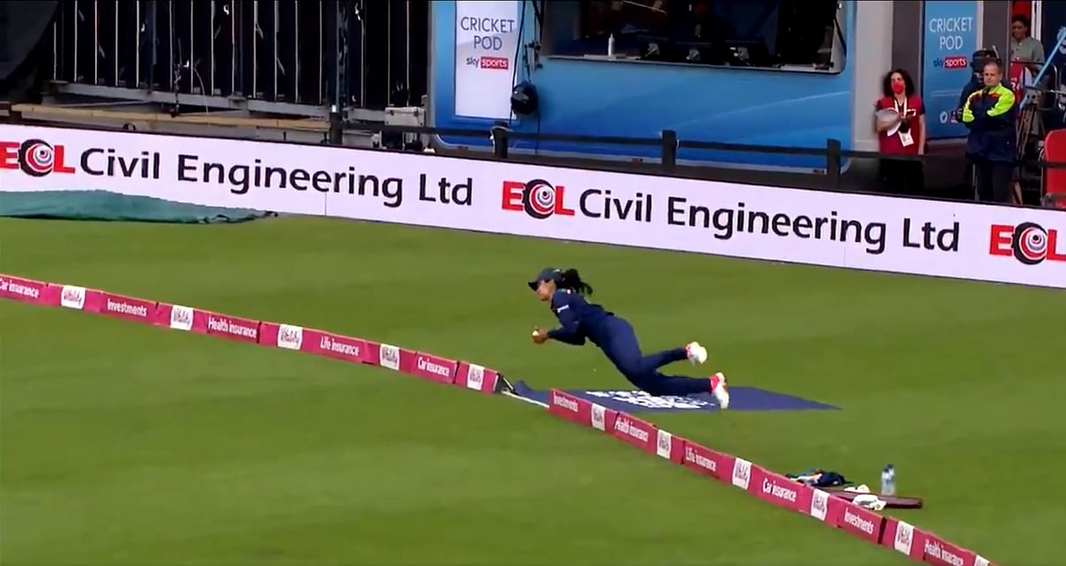 Watch: Harleen Deol's acrobatic stunner which Sachin Tendulkar described as 'catch of the year'