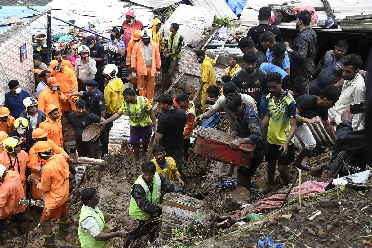 Landslides, wall collapse, electrocution: 33 killed, 6 injured in 5 rain-related disasters across Mumbai