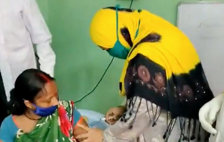 West Bengal: Controversy erupts after TMC leader Tabassum Ara administers COVID-19 vaccine at Asansol camp; watch video