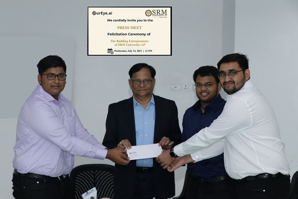 SRM AP students create record with startUp OurEye.ai
