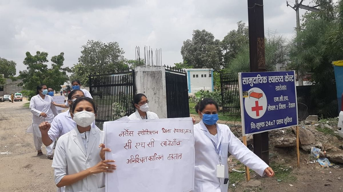 Nagda: Nurses go on indefinite strike, take out rally to press for their 12-point demands