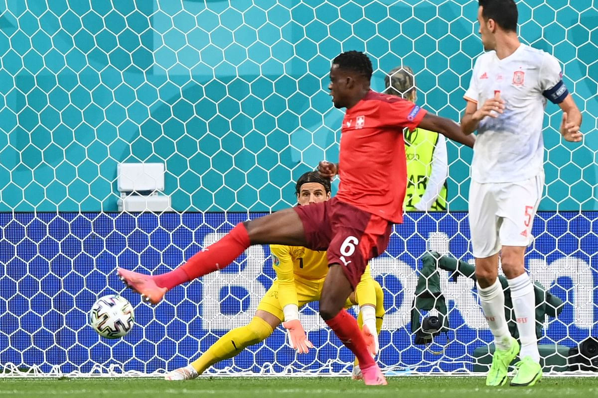 Watch video: Zakaria's own goal gifts Spain early lead in Euro 2020 QF against Switzerland