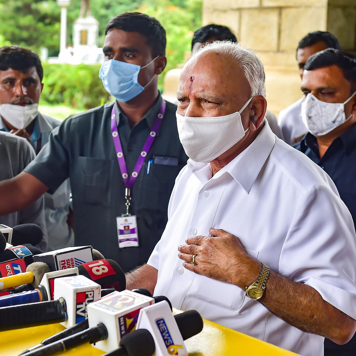 'Will take appropriate decision once I get instructions': Karnataka CM Yediyurappa on possible exit