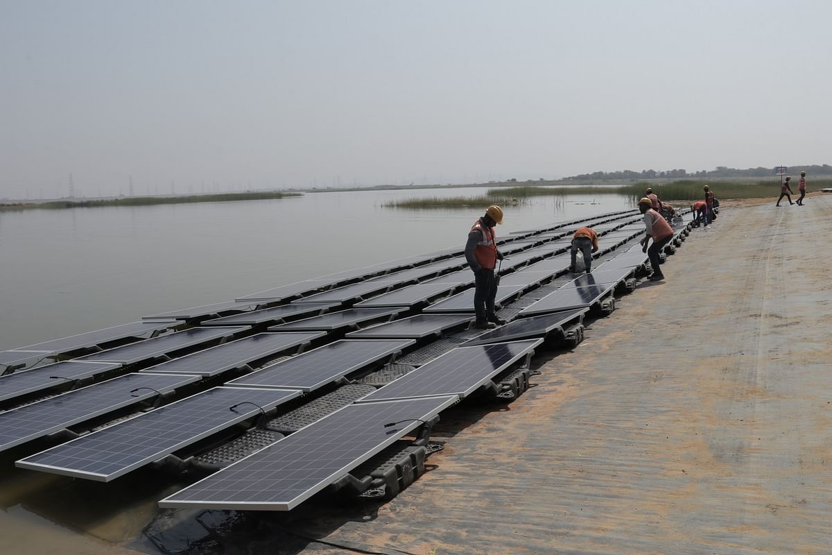 Largest in the segment in India, the 100-MW Floating Solar PV Project at NTPC-Ramagundam moves ahead