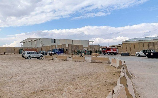 A view from inside Ain al-Asad military airbase housing US and other foreign troops in the western Iraqi province of Anbar.