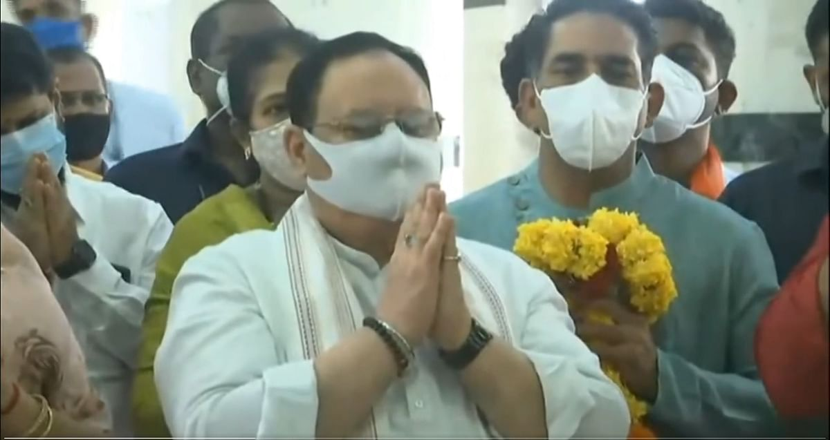 Watch Video: BJP national president JP Nadda offers prayers at Mangesh temple during Goa visit