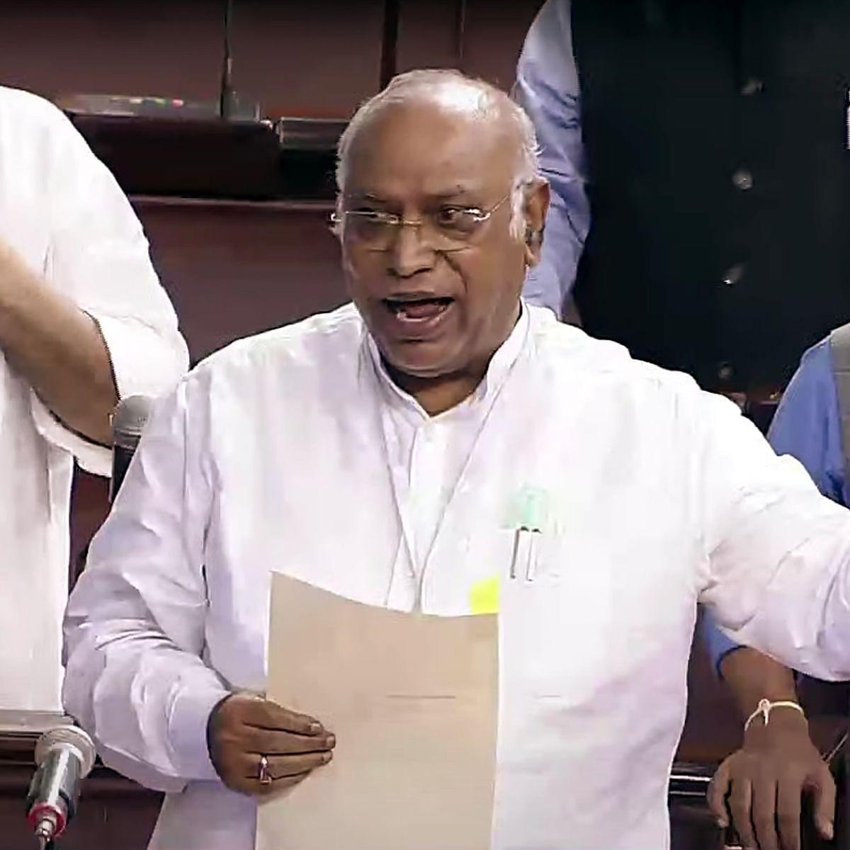 Govt's Covid death toll figures 'false' and conservative: Mallikarjuna Kharge in Rajya Sabha