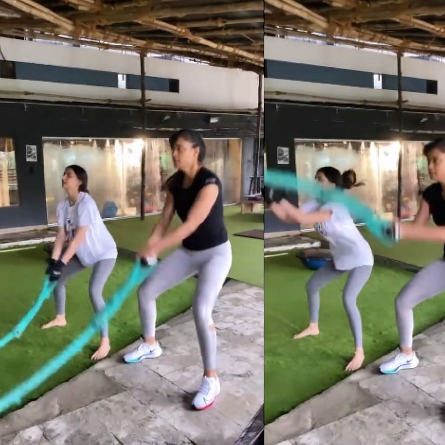 Watch: Shweta Tiwari, daughter Palak hit the gym together; netizens say 'they look like sisters'