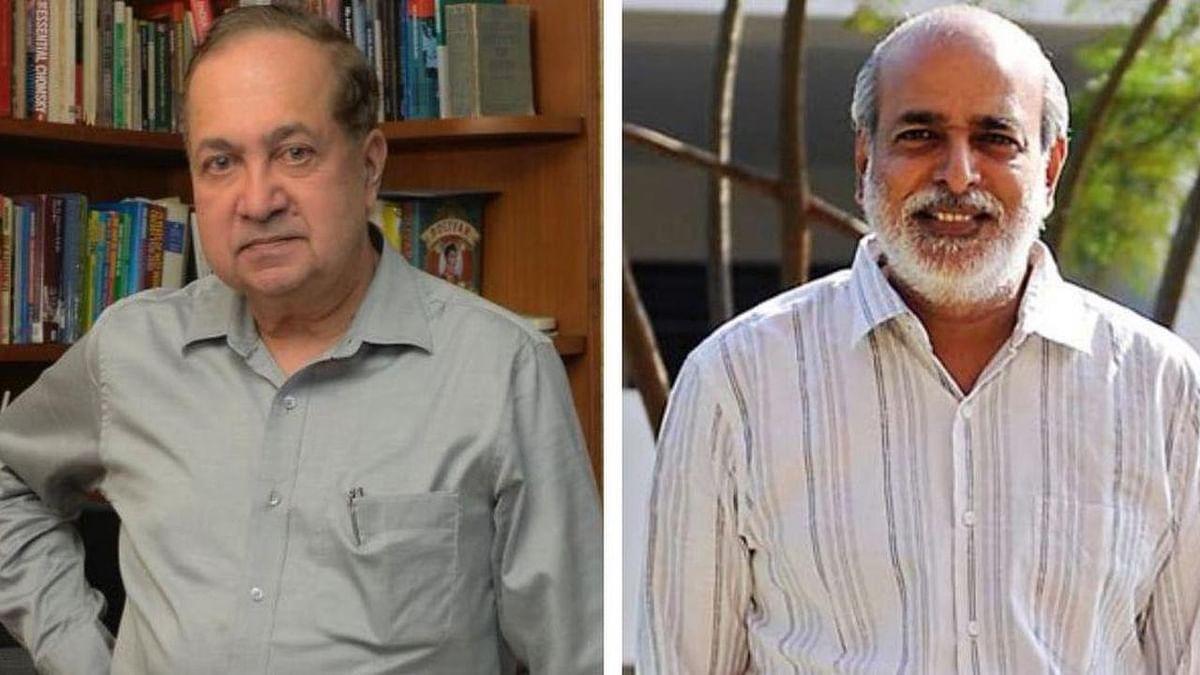 N Ram (L) and Sashi Kumar