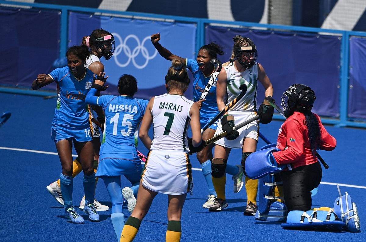 Hockey at Tokyo Olympics: Vandana hat-trick in 4-3 win over South Africa keeps India's QF hopes afloat