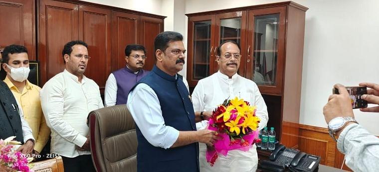 Kapil Patil takes charge as MoS in Ministry of Panchayati Raj, expresses resolve to take forward vision of PM Modi