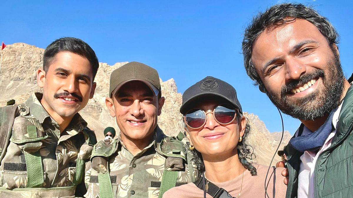 Naga Chaitanya shares pic with Aamir Khan, Kiran Rao from 'Laal Singh Chadha' sets in Ladakh