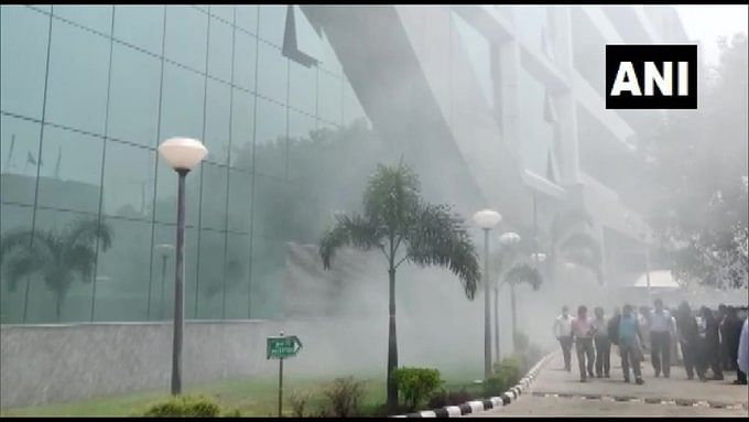 A fire broke out in the CBI building at CGO complex in Lodhi Road area