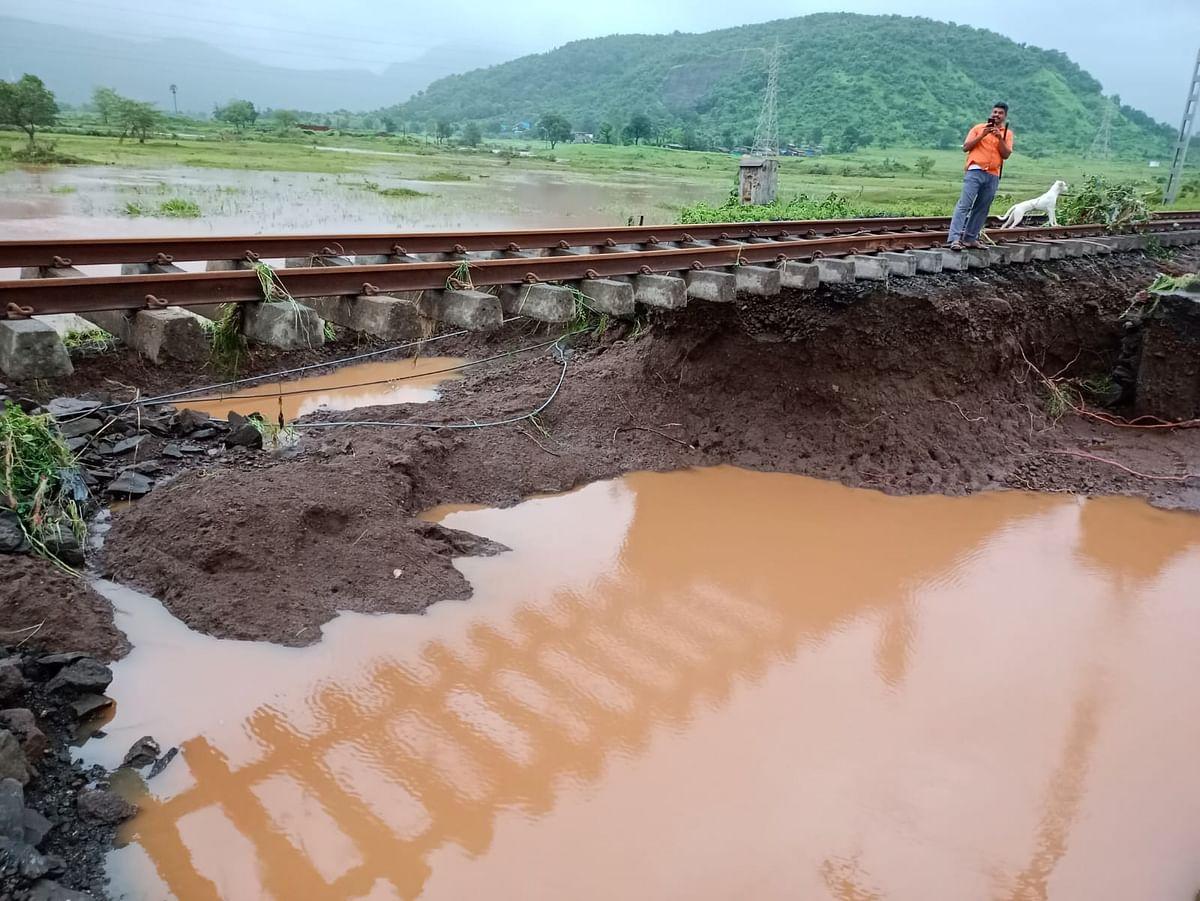 Mumbai: Ghats crumble, tracks washed out after rains lash city