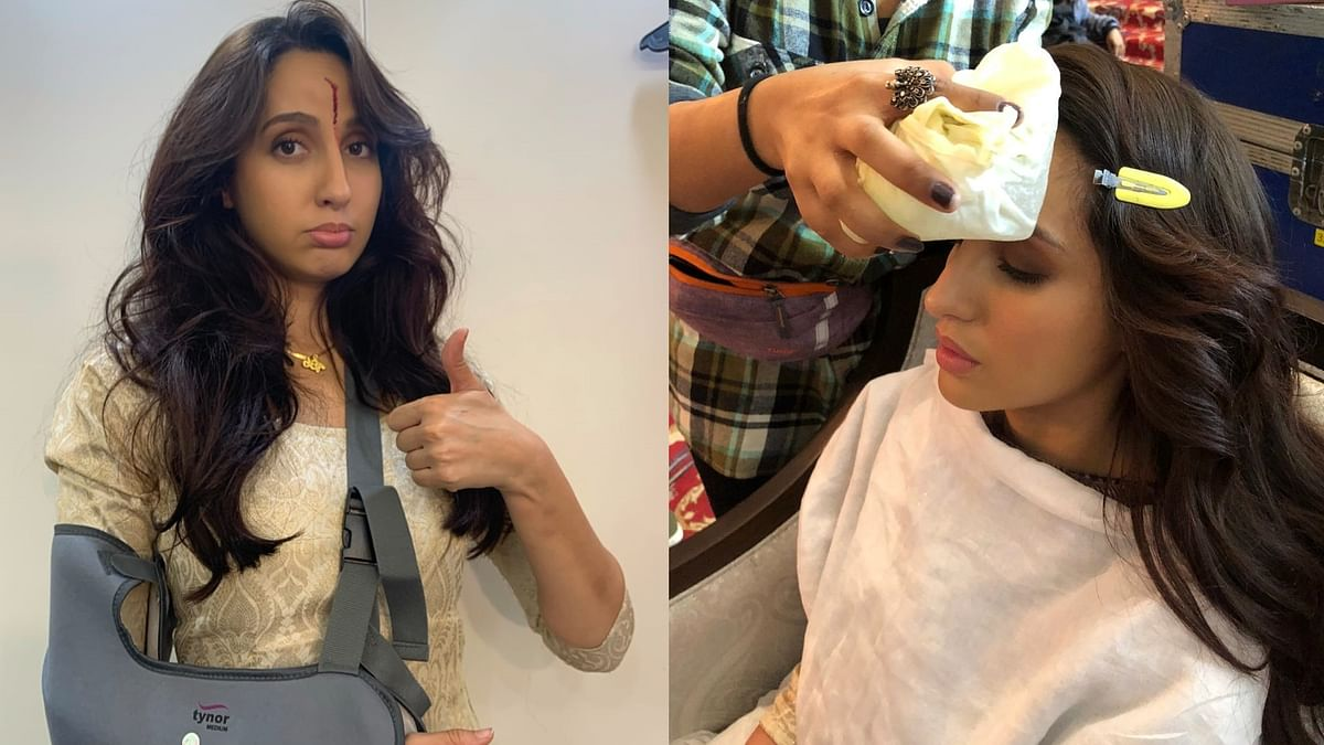 'My co-actor accidentally threw the gun to my face': Nora Fatehi sheds real blood for 'Bhuj: The Pride of India'