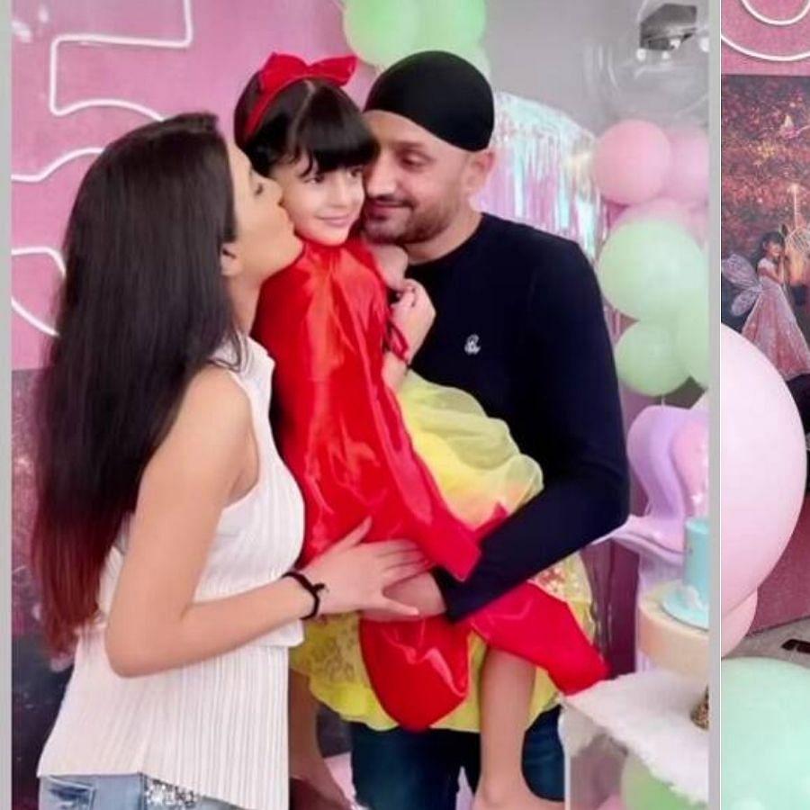 Inside photos: Harbhajan Singh, Geeta Basra celebrate daughter Hinaya's 5th birthday