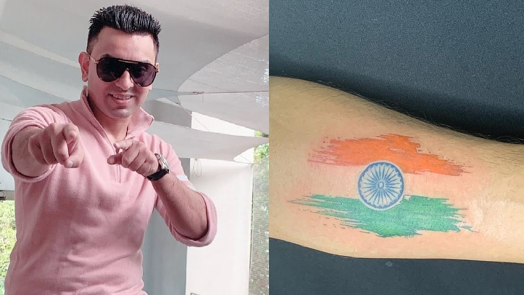 Former 'Bigg Boss 13' contestant Tehseen Poonawalla gets Indian flag tattoed on his arm