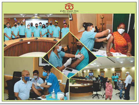 Central Warehousing Corporation organises 2nd on-site Covid vaccination drive