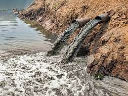 According to officials, the dumping of industrial waste in the Ajnar river has been going on for a long time