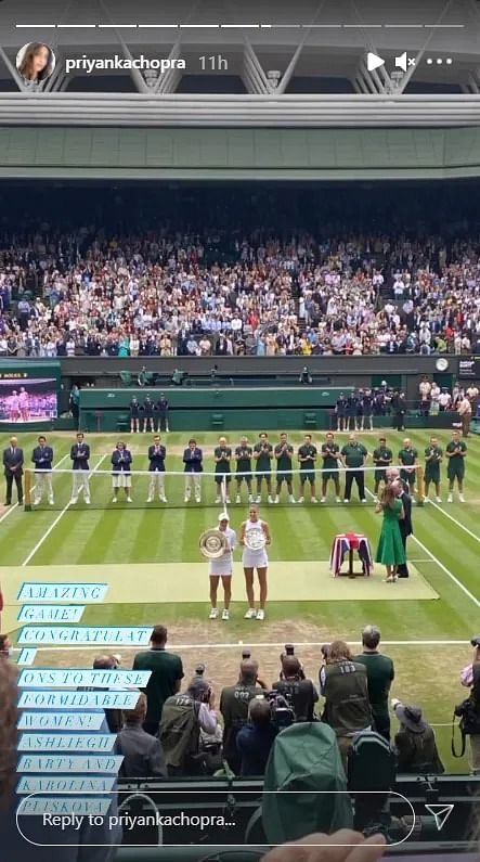 In Pics: Priyanka Chopra's attends Wimbledon finals with Natasha Poonawalla; shares glimpses of 'girls day out'