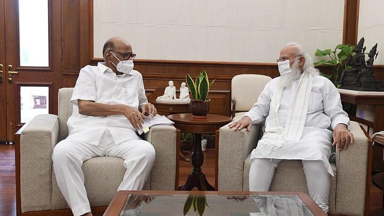 NCP chief Sharad Pawar meets PM Modi for 50 minutes, denies discussing politics
