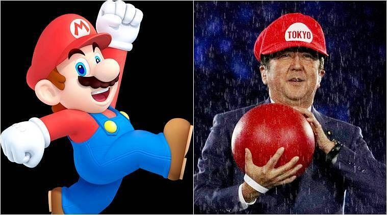 Former Japan PM Shinzo Abe came dressed as Mario at 2016 Rio closing ceremony